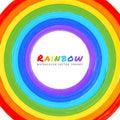 Círculo de la acuarela del arco iris Fotografía de archivo libre de regalías