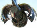 C-17 Military Aircraft Engine Royalty Free Stock Photo