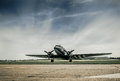 C also called dakota or skytrain u s military transport aircraft that served in all theatres during world war ii and continued in Royalty Free Stock Photos