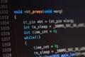 C computer language source code Royalty Free Stock Photo
