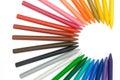 C shape 24-color crayons Stock Photos