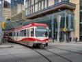 C-Train in Calgary Royalty Free Stock Photo