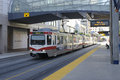 C-Train in Calgary Royalty Free Stock Photo
