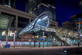 C-Train transit station, Calgary Royalty Free Stock Photo