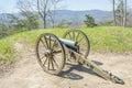 Cañón de la guerra civil en el cumberland gap Fotografía de archivo