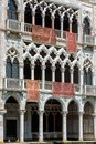 Ca` d`Oro palace on the Grand Canal, Venice Royalty Free Stock Photo