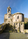 Caaveiro monastery in fragas do eume galicia spain a sunny day Stock Image