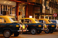 Cab Stand in India Stock Photo