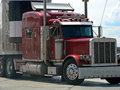 Cab tractor trailer truck Royalty Free Stock Photography