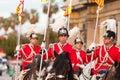 Cabalgata de reyes magos in barcelona spain january horse retinue Royalty Free Stock Photography