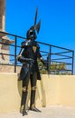 Caballero de la armadura en la fortaleza de rhodes old town rhodes grecia Fotos de archivo libres de regalías
