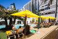 Cabana beach hotel resort swimming pool area children adults umhlanga rocks noth durban prime holiday venue next to beach tourism Stock Photo