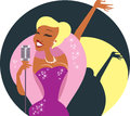 Cabaret singer Royalty Free Stock Photo