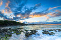 Cabarita beach at twilight Royalty Free Stock Images
