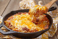 Cabbage casserole with beef rice and cheese tomato sauce Stock Photo