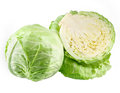 Cabbage and a half isolated on white background Stock Image
