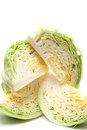Cabbage isolated on white background Stock Photos