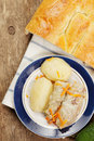 Cabbage rolls and bread Royalty Free Stock Images