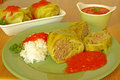 Cabbage rolls with meat Stock Image