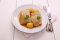 Cabbage rolls with potato, parsley Royalty Free Stock Photo