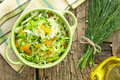 Cabbage salad with fresh dill Stock Images