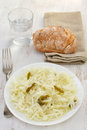 Cabbage salad with pepper Stock Images
