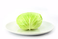 Cabbage on white dish Royalty Free Stock Photo