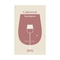 Cabernet sauvignon label for wine vector format Stock Images