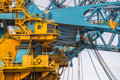 Cabin area of a huge Crane Vessel Royalty Free Stock Photo