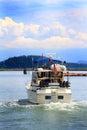 Cabin Cruiser Cruising Royalty Free Stock Photo
