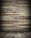 Cabin dark interior backdrop Royalty Free Stock Photo