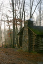 Cabin in Early Morning Mist – New Jersey Royalty Free Stock Photo