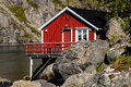 Cabin in the mountains in Norway Royalty Free Stock Photos