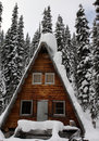 Cabin in the snow Royalty Free Stock Photo