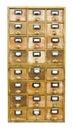 Cabina de madera del vintage con los cajones Imagenes de archivo