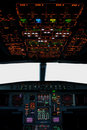 Cabina do piloto de Airbus Imagem de Stock Royalty Free