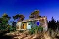 image photo : Abandoned Cabin - Light Painting