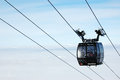 View on Lipno with ski-lift and lakes.