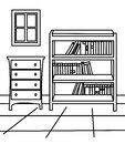 Cabinet coloring page Royalty Free Stock Photo