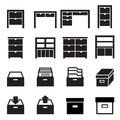 Cabinet & storage icon set Royalty Free Stock Photo
