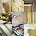 Cabinetry collage Royalty Free Stock Photography