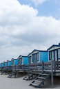Cabins on the beach Royalty Free Stock Photography
