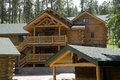 Cabins in the Black Hills of South Dakota Royalty Free Stock Photo