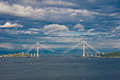 Cable bridge from vladivostok to russian island russia vladivostok Stock Photography