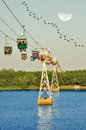 Cable car above the expo queensland in chennai Stock Images