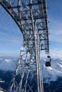 Cable-car in alps Royalty Free Stock Image
