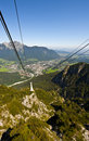 Cable Car in Alps Royalty Free Stock Photography