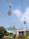 Cable car in amusement park Stock Photos