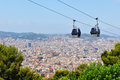 Cable car in Barcelona, Spain Royalty Free Stock Image