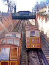 Cable car on the castle hill budapest hungary Stock Photos